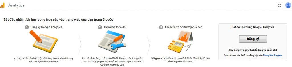 Hướng dẫn đăng ký google analytic
