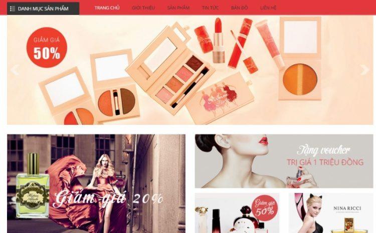 Thiết kế website mỹ phẩm đẹp giá rẻ